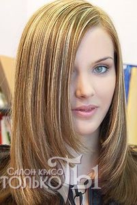 Мелирование на осветленные рыжие волосы