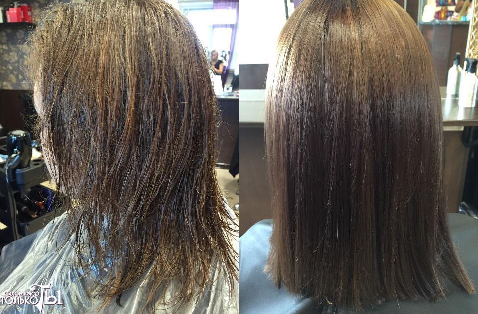 Разница между ботоксом для волос и кератином
