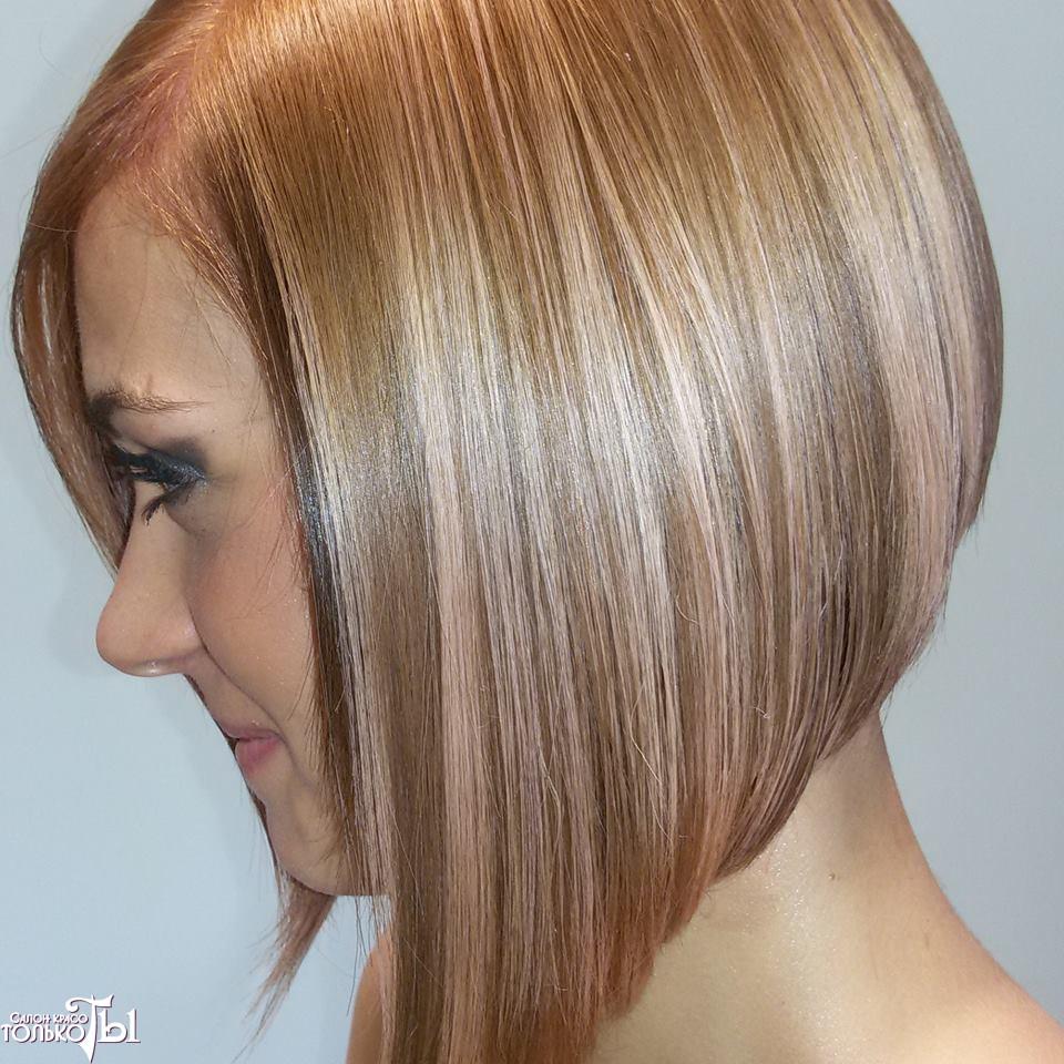Стоимость мелирования на средние волосы